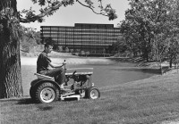 John Deere 110 lawn tractor at Moline HQ