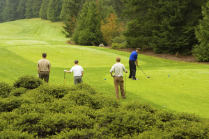 Golfers Teeing Off