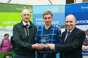 Apprentice of the Year Peter Lewis with boss Craig Gilholm and assessor Lyndon Smith
