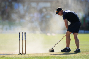 Cricket Cfied groundsman