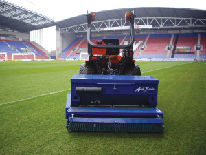 Raycam Aeraseeder at DW Stadium, Wigan,