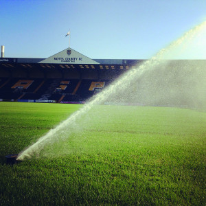 Notts County sprinkler