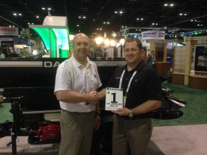 Orlando 2014 107UK Dealer Award from Dakota. Sandy Armit and Ryan Wood