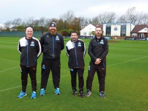 NUFC team at training ground