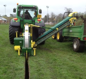 supertrencher 625 running at Ecosol Turfcare