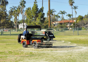 Truckster with Turfco 1550