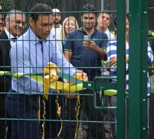 Former England captain Mark Ramrpakash officially opened the nets