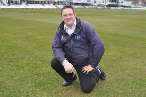 Andy Mackay, head groundsman of Sussex CCC at Hove DSC 0591