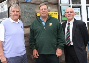 Chairman of the Sidmouth Cricket, Tennis and Croquet Club Neil Gamble (left) is pictured with groundsman Colin Whitehall and house and grounds chairman John Goodwin (right). Picture: Simon Horn