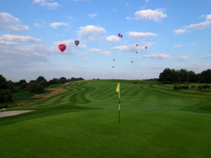 Balloons over 3rd hole
