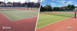 Tennis Courts Before After Composite Image