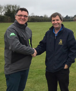 ALS Area Technical Manager, Ray Hunt with Minchinhampton's Golf Course Manager, Paul Worster