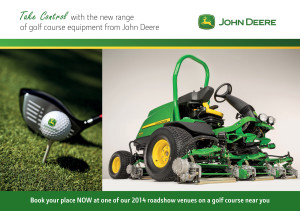 John Deere Take Control 2014 golf roadshow