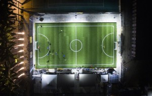 Player Powered Football Pitch