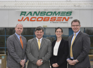 The new Sales and Marketing team at Ransomes Jacobsen USA as (left to right): Will Carr, John Quinton, Karen Proctor and Nick Brown