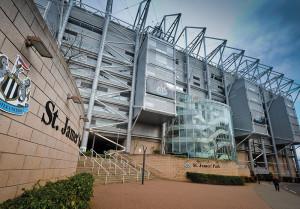 NUFC stadium extrance