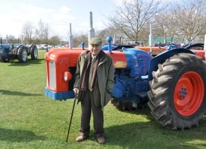 Alan Doe with Doe tractors in Norfolk 2012