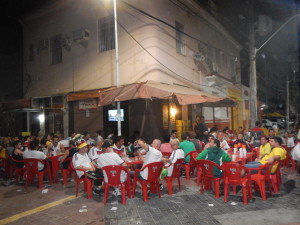 fans at bar in salvador