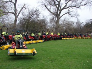 Leicester City Council\'s Shibaura fleet with Muthing flails