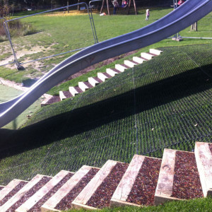 RubbaGrass Slide Installation