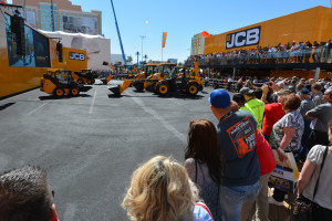 JCB\'s world famous Dancing Diggers are taking Las Vegas by storm