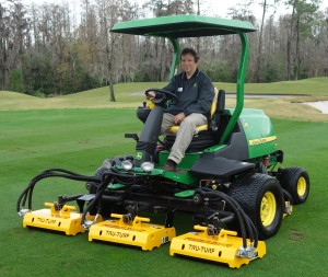 Tru Turf FR108 Fairway Rollers on John Deere 7700 Mower