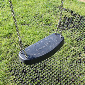 RubbaGrass Installation Under Playground Swings