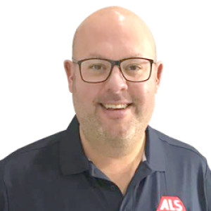 ALS Technical Sales Area Manager, Stuart Yarwood