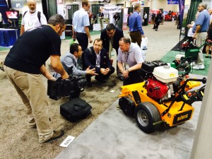 The combined stand of Dennis & SISIS will provide visitors to GIS 2015 with an array of turf maintenance machines.