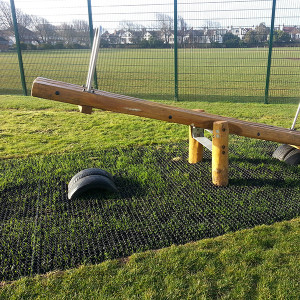 RubbaGrass Seesaw Installation