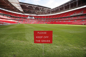 Wembley keep off grass