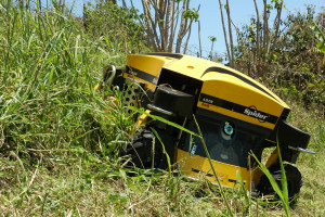 The remote controlled Ransomes Spider was put through its paces