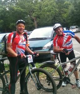 John & Reg at 50 miles