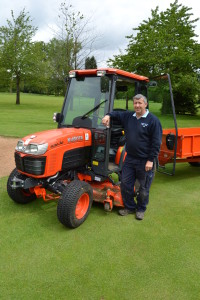 Fulford Heath GC B3030 compact tractor Kim Blake Course Manager Image 1