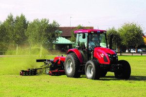 The new TYM T754 at Lely's Turfcare Live event
