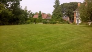 The Headmaster's lawn restored in time for the party