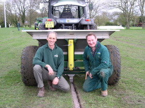 Bretton King and Richard Clark with the Shelton 3 tonne fast flow hopper