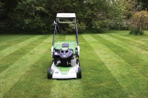 cut, collect, mulch and stripe with Etesia