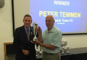 Pete Temmen Nantwich Town groundsman