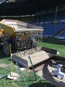 Leeds FC Rugby Posts Cement