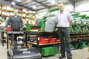 Toby Clarke and Roger Moore Dennis Mowers and SISIS Equipment