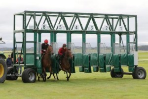 Trials of the new starting stalls