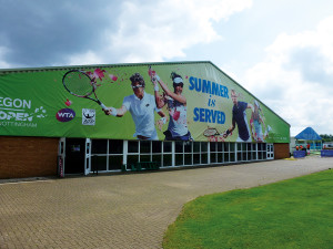 Notts Tennis Centre served