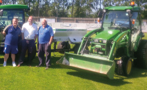 Mel Pooley Top Dressing at St Ives F.C