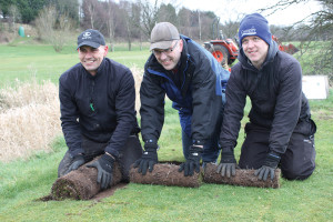 Myerscough Eddie Ainsworth, Richard Caulfield and Wayne Atkinson