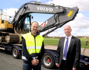 Duncan Ross Land Drainage in Bolton with Cllr Nick Peel at Hulton Lane playing fields (2)