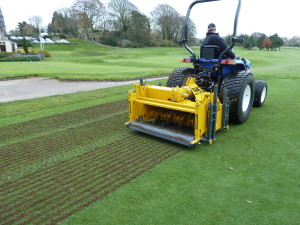 The BLEC Multivator in action at Cork Golf Club, Ireland