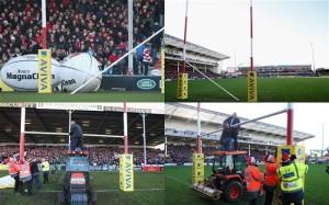 rugby post croosbar