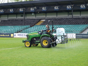 Martin Lishman Compact Sprayer in use on \'The Rec\'