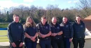 L R Tom Day, Sue Lawrence, John Lawrence, Dave Lawrence, Anthony Knight, Steven Whitfield